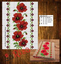 123 Cross Stitch, Cross Stitch Borders, Cross Stitch Flowers, Cross Stitching, Cross Stitch Embroidery, Embroidery Patterns, Cross Stitch Patterns, Palestinian Embroidery, Loom Beading
