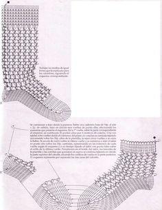 Patrones ganchillo ropa bebé - Patrón calcetines ganchillo