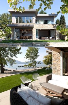 Home Designing — (via Lakeside Summer Home)