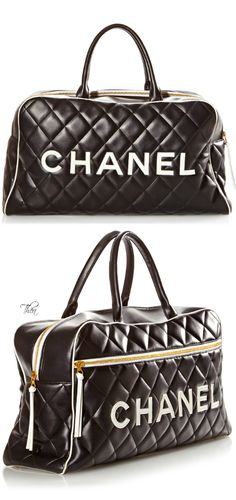 CHANEL                                                                                                                    Vintage Black Travel Bag                                                                                                                   ✤HAND'me.the'BAG✤
