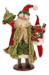Santa With Stocking - Mark Roberts Father Christmas, Santa Christmas, All Things Christmas, Christmas Stockings, Christmas Cards, Christmas Ornaments, Mark Roberts Elves, Mark Roberts Fairies, Santa Decorations