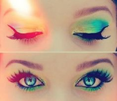 Summertime eyes makeup