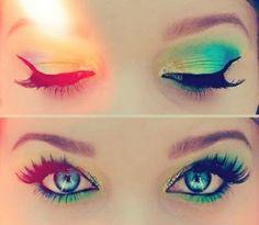 Summertime eyes makeup