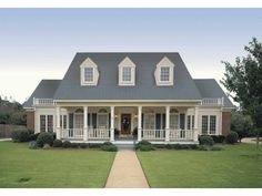 Classy Cottage Home w/ 4 Bedrooms & Porch (HQ Plans) | Metal Building Homes