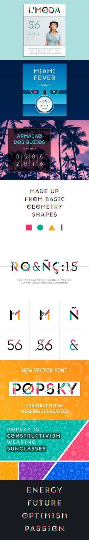 Popsky Multicolor Font. Display Fonts. $9.00