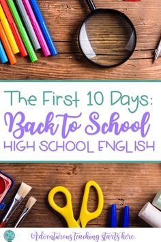 It's every teacher's most stressful, most highly anticipated, and most powerful time of the year: back to school! After over a decade of first days back to school, I've finally found a plan for the first ten days that streamlines the three most important things for me: routines, rigor, and relationships. Here, I will outline for you the importance of routines, rigor, and relationships, then, provide my daily plans for the first ten days. #backtoschool #highschoolenglish #englishlessonideas