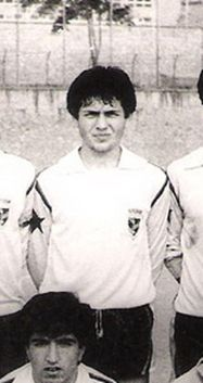 Aykut Kocaman, legendary football player and manager of Fenerbahce SK, taken when he has started his football career in a local amateur Istanbul club - Kabatas Altinyildiz
