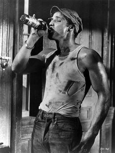 Marlon Brando as Stanley Kowalski, in street car named desire