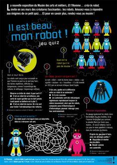 Et l'homme… créa le robot  Arts & métiers  > 03/03/13 Paris, Robots, Comic Books, Comics, Tour Guide, Radiation Exposure, Gaming, Child, Montmartre Paris