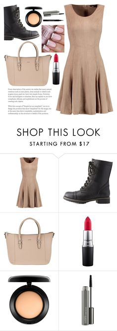 """""""Beige"""" by jpc51105 ❤ liked on Polyvore featuring Halston Heritage, Charlotte Russe, Joop!, MAC Cosmetics and Givenchy"""