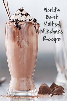 World's Best Malted Milkshake recipe made in the Vitamix