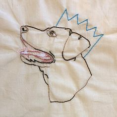 Simple Embroidered Tote bag Pet Portrait | ELHembroidery Embroidered Gifts, Pet Portraits, Canvas Art, Wraps, Embroidery, Tote Bag, Pets, Simple, Color
