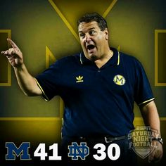 Game 2 of the 2013 season in the win column! four straight home wins against ND! GO BLUE!