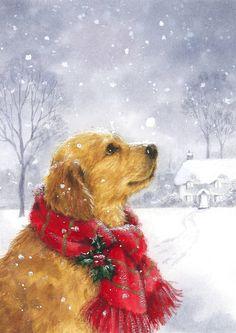 Hazel Lincoln | Advocate Art New York Christmas, Christmas Scenes, Christmas Animals, Christmas Cats, Christmas Ornaments, Vintage Christmas Images, Christmas Pictures, Les Moomins, Christmas Paintings