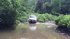 Driving my 1997 Toyota Land Cruiser Collector's Edition through a small water crossing in the Daniel Boone National Forrest Kentucky. Land Cruiser 80, Toyota Land Cruiser, Offroad, Kentucky, Water, Gripe Water, Off Road
