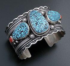 Larry M Chavez .925 Argent Sterling Turquoise & Lapis Navajo Save 50-70% Bijoux Fantaisie Bijoux, Montres