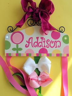 Bowholders, they hold alligator clips and other bows. I absolutely love them. They are fun to make & EASY!