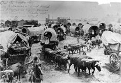 Oregon Trail Pioneers | The Oregon Trail extended from Independence Missouri to Oregon City, Oregon.