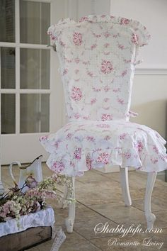 Beautiful Slip Cover for a dining chair  ~I See Beauty Around Me~