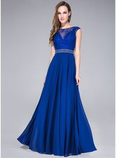 A-Line/Princess Scoop Neck Floor-Length Chiffon Tulle Prom Dress With Lace Beading Sequins Regency, dark green, gold or as pictured royal blue Prom Dresses Under 100, Prom Dresses 2015, Cheap Prom Dresses, Wedding Party Dresses, Ball Dresses, Ball Gowns, Girls Dresses, Bridesmaid Dresses, Formal Dresses