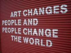 Think about it! #changetheworldwithart