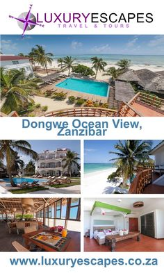 Dongwe Ocean View Zanzibar not only offers a haven for relaxation on our pristine wooden pool deck overlooking the sand and sea. Travel Special from USD88 pp. Includes: Bed, Breakfast, Dinner and Afternoon tea. Visit www.luxuryescapes.co.za