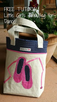 Novice Beginnings: LITTLE GIRL'S TOTE BAG FOR DANCE - Tutorial
