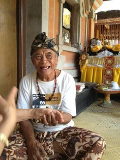 #eatpraylove- we had a healing session with #Ketut. He is 102 years old. Ubud, #indonesia
