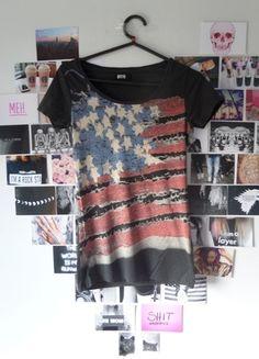 Kup mój przedmiot na #Vinted http://www.vinted.pl/kobiety/koszulki-z-krotkim-rekawem-t-shirty/9737788-bluzka-bik-bok-36-flaga-usa