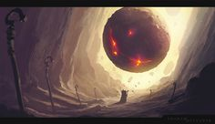Elemental Orb by ShahabAlizadeh cavern cave alien landscape location environment architecture | Create your own roleplaying game material w/ RPG Bard: www.rpgbard.com | Writing inspiration for Dungeons and Dragons DND D&D Pathfinder PFRPG Warhammer 40k Star Wars Shadowrun Call of Cthulhu Lord of the Rings LoTR + d20 fantasy science fiction scifi horror design | Not our art: click artwork for source