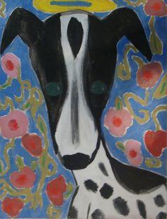 Tchau, Laika. Tinta a óleo sobre tela, 2011, por Jéssica Batista.