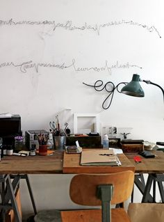 Photo: Petra Bindel. Modern, vintage, or even eclectic, your office should be inspiring. See some decor tips for your home office, here: http://www.pinterest.com/homedsgnideas/