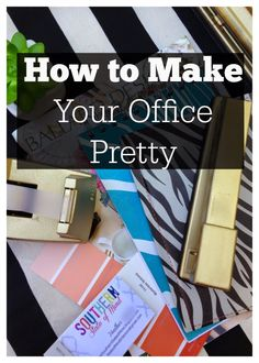 How to Make Your Office Pretty: Use gold spray paint to spruce up old office supplies