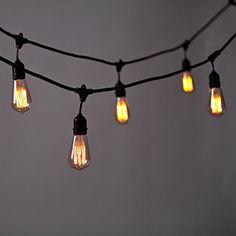 Commercial edison drop string lights 48 foot black wire clear brightech ambience pro vintage edition outdoor commercial string lights with nostalgic edison bulbs 48 aloadofball Gallery