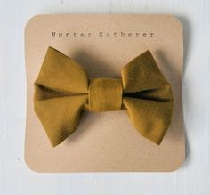 i am the moss on the floor of the forest hair bow by hunter gatherer