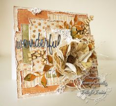 Little blue craft box tim holtz birthday christmas card flowers distress ink floral mixed media cake decoration scrapbook pages inspiration mojo Fall Cards, Christmas Cards, Blue Crafts, Scrapbook Pages, Scrapbooking, Beautiful Handmade Cards, Craft Box, Card Maker, Distress Ink