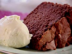Chocolate Pound Cake Recipe : Trisha Yearwood's Chocolate Pound Cake. It's indulgent, but the texture is lighter than you find with other pound cakes, which makes it both celebratory and perfect for this time of year.
