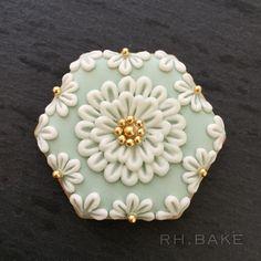 Floral design cookies