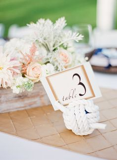 """""""Tie The Knot"""" #TableNumbers   See the wedding on SMP -- http://www.StyleMePretty.com/2014/01/23/maui-destination-wedding-at-the-sugarman-estate/ Jana Morgan Photography"""