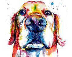 Colores negro laboratorio Labrador Retriever Art por WeekdayBest