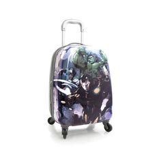"Heys Luggage Avengers Carry On Hardcase Marvel 20"" Gray Spinner Suitcase TSA #Heys"