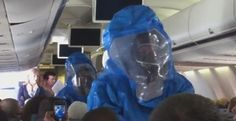 VIDEO: MAN PULLED OFF US AIRWAYS FLIGHT AFTER JOKING HE HAD EBOLA Hazmat crew laughed at by other passengers
