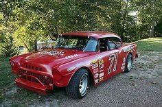 1955 Chevy Street Legal Race car Signed by Dave Marcis Nascar Cars, Nascar Racing, Real Racing, Dirt Racing, Auto Racing, Old Race Cars, Us Cars, Sport Cars, Classic Race Cars