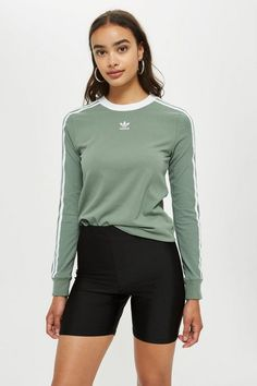 Three Striped Long Sleeve Top by adidas - New In Fashion - New In - Topshop  Europe. Shop for T-shirts ... 15c510bf32b1