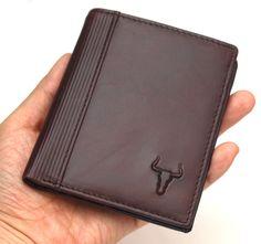 Vintage Genuine Leather Wallet Mens Coin Zipper Pocket Credit Card Wallet Purse