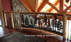 Artistic Railing for #balcony or #loft. What can we design for you? Professional Artist on Staff. Visit www.NatureRails.com for more ideas or give us a call at 888-743-2325.
