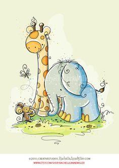 Elephant Friends (3 of 3) by Rachelle Anne Miller, via Flickr