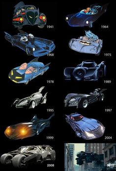 batmobile evolution  That evolution should have just stopped at 1989. You can't beat perfection.
