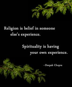 Why does belief in a universal power need a name any name to signify religion instead of spirituality?