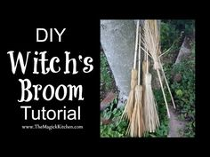 The Witches' Broom, or Besom is an important and largely misunderstood tool of the Witch.Gaining its notoriety from the witch hunters' manuals of mediaeval Europe, it is a tool of a far more ancient origin. Wiccan Crafts, Eclectic Witch, Witch Broom, Kitchen Witch, Magick, Witchcraft, Book Of Shadows, Halloween Crafts, Youtube Thumbnail
